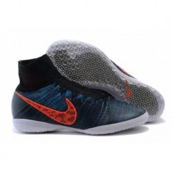Bottes de football Nike Elastico Superfly IC Noir Bleu Lagoon