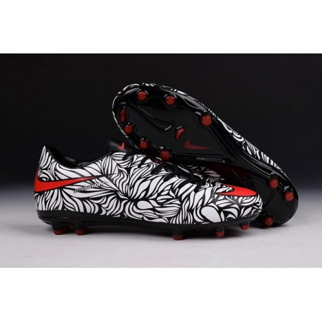 2016 Nike Hypervenom Phinish Neymar FG en noir blanc et rouge