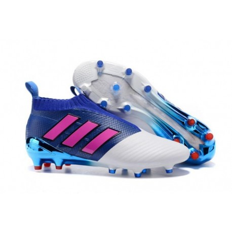 Adidas ACE 17+ Purecontrol FG Bleu Shock Rose Blanc