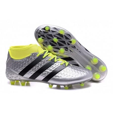 Adidas ACE 16.2 Primemesh cadrans de football en terre ferme Argent Noir