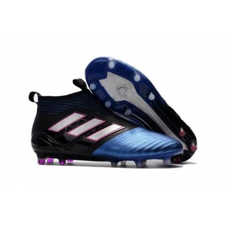 Adidas ACE 17+ Purecontrol FG - noyau noir / blanc / bleu