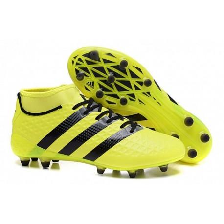 Adidas ACE 16.2 Primemesh Finitions de football en terre ferme Jaune Noir