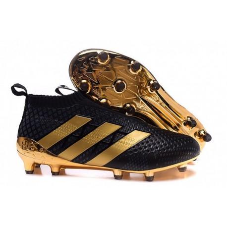 Nouveau 2016 Or noir Adidas ACE 16+ FG Purecontrol Paul Pogba