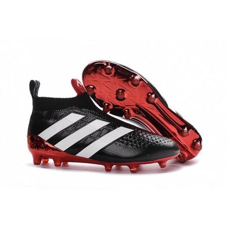 Poignets de soccer adidas ACE 16+ Purecontrol FG Noir / Blanc / Rouge