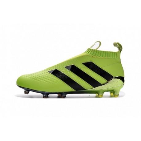 célèbre marque de designer acheter maintenant nouveaux styles 2016 Adidas Ace 16+ Pure Control EURO FG Crampons de football Solar Jaune /  Core Noir / Argent Métallisé