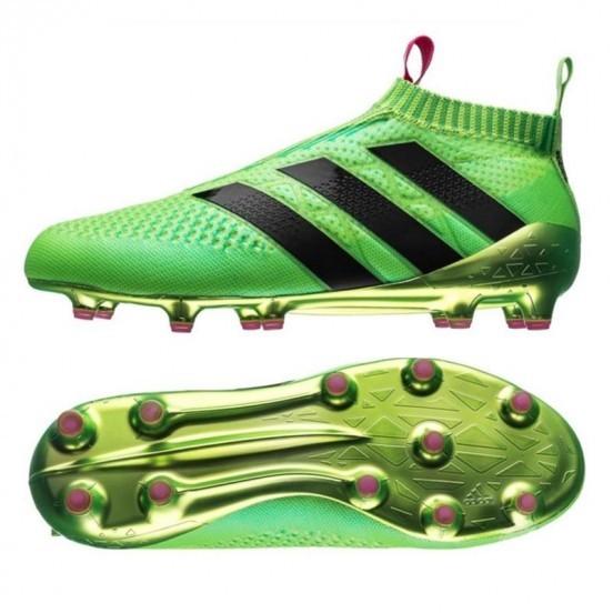 Cheap Adidas ACE 16+ PURECONTROL FGAG Crampons de football Solar Vert Shock Rose Noir