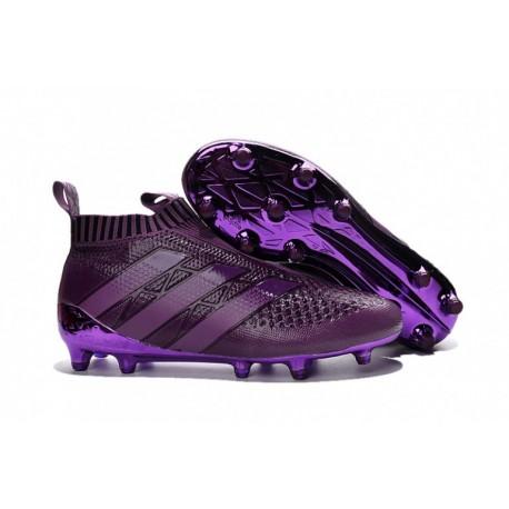 2016 Adidas ACE 16+ Purecontrol FG Crampons de football Deep violet