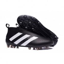 NOUVEAU 2016 Adidas ACE 16+ Pure Control FG Crampons de football Noir / Blanc