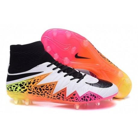 Bottes de football Nike Hypervenom Phatal II FG Blanc Noir Rose
