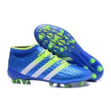 Adidas ACE 16.2 Primemesh FG / AG Crampons de football Shock Bleu Blanc Core Noir