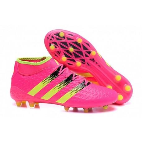 Adidas Women's ACE 16.2 Primemesh Filet de football en terre ferme rose