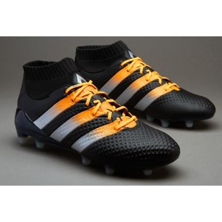 Cheap adidas ACE 16.1 Primeknit FG / AG Crampons de football Core Noir / Maté Argent / Solaire Or