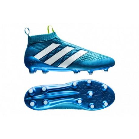 G Crampons de football Shock Bleu / Semi Solar Slime / Blanc