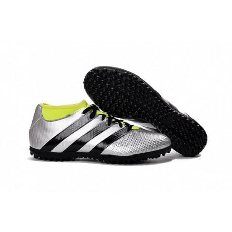 Adidas ACE 16.3 Primemesh TF Crampons de football Argent Metallic-Core Noir-Solar Jaune
