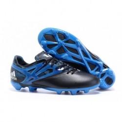 Acier bon marché Adidas MESSI 15.1 FG / AG Crampons de football - Core Noir / Solar Bleu / Zero Met