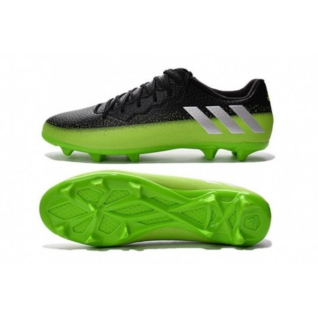Vente adidas Messi 16.3 FG Noir Vert Métal Argent