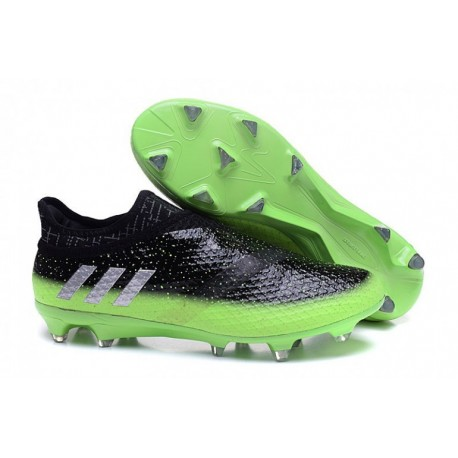 Adidas Messi 16.1 FG-AG - Gris foncé-Argent Metallic-Solar Vert