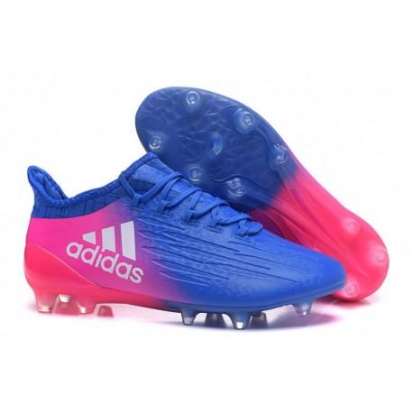 Adidas X 16.1 FG / AG Crampons de football Bleu / Rose