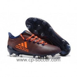 2017 adidas X 17.3 FG Crampons de football - Noir / Orange
