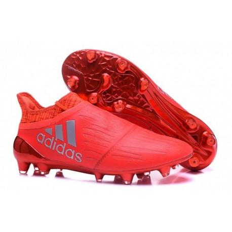 Cheap adidas X 16+ Purechaos FG - Rouge solaire rouge-argenté métallisé-Hi-Res Rouge