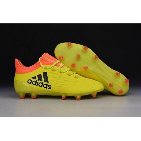 Nouveaux bottes 2016 adidas X 16.1 Bottes de soccer jaune / orange / noir