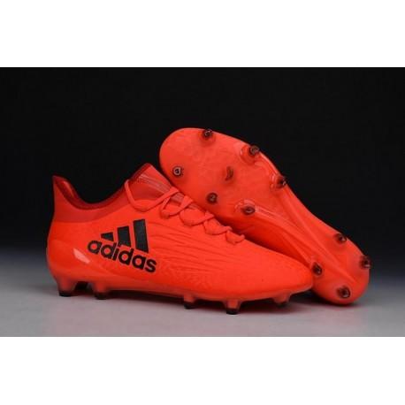 Nouveau 2016 adidas X 16.1 bottes Football Cleats Solar Rouge / Argent / Hi / Res Rouge