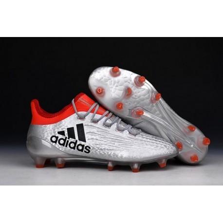 Nouveaux bottes 2016 adidas X 16.1 Bottes de soccer Argent Métallique Nacre Noir Rouge solaire
