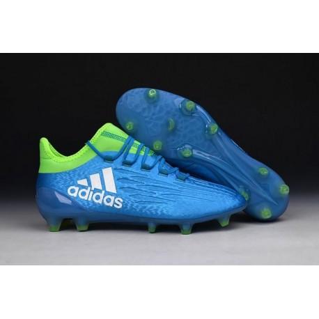 Nouveau 2016 adidas X 16.1 bottes Crampons de football Bleu / Vert / Blanc