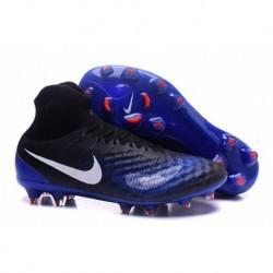Nike Magista Obra II FG Soccer Cleats Noir / Paramount Bleu / Crimson