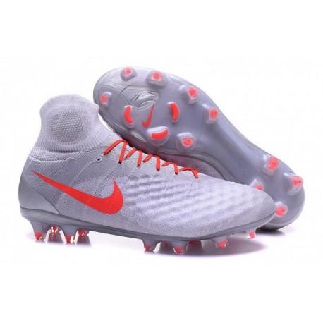 Nike Magista Obra II FG Soccer Cleats Gris / Blanc / Rouge