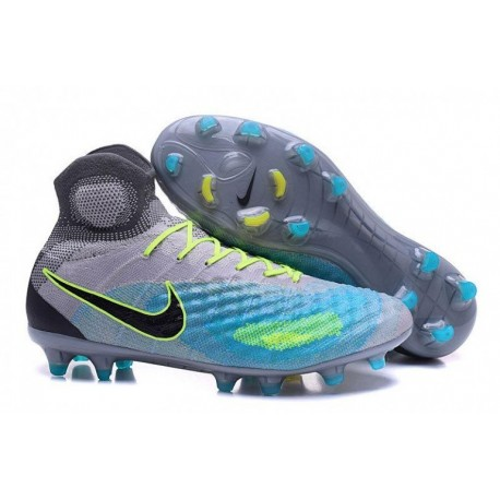 Nike Magista Obra II FG Soccer Cleats Pure Platinum / Ghost Vert / Clear Jade