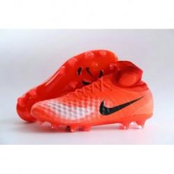 Low Cost Nike Magista Obra II FG - Total Crimson-Blanc-Noir