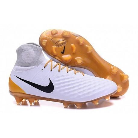 Nike Magista Obra II FG Soccer Cleats Blanc / Or