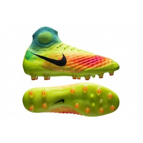 Nike Magista Obra II AG-PRO Volt-Noir-Total Orange-Rose Blast-HyperTurquoise