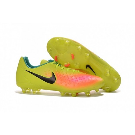 Nouveau Nike Magista Opus II FG Soccer Cleats - Volt-Noir-Total Orange-Rose Blast