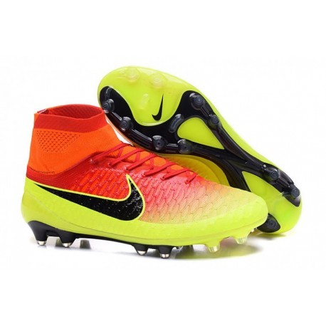 Nike Magista Obra Euro 2016 FG Soccer Cleats Volt Total Orange Rose Blast Noir