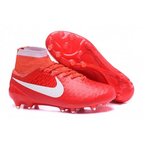 Nike Women's 's Magista Obra FG Soccer Cleats Rouge Orange Blanc