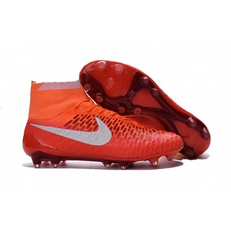 Crampons de football Nike Magista Obra FG 2016 Orange Blanc