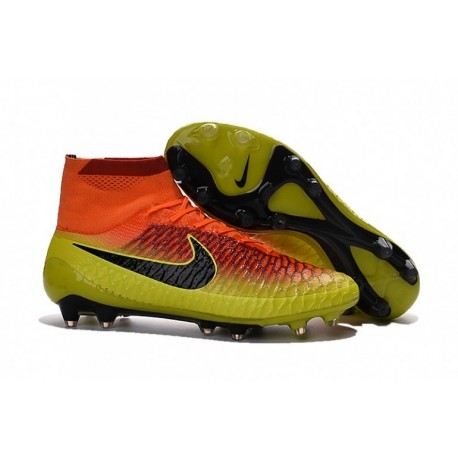 2016 Nike Magista Obra FG Hommes Soccer Cleats Jaune / Orange