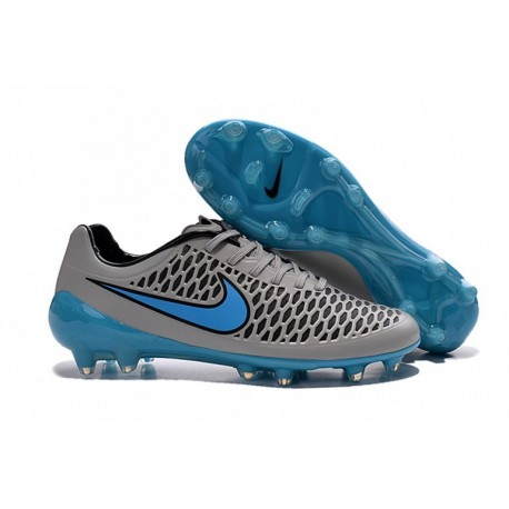 Nike Magista Opus FG - Gris de loup-Turquoise Bleu-Noir-Noir