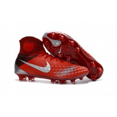 Cheap Nike Magista Obra II FG Rouge / Argent métallisé
