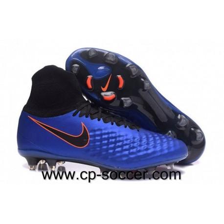 Nike Magista Obra II FG Soccer Cleats Bleu Lagoon / Noir / Orange