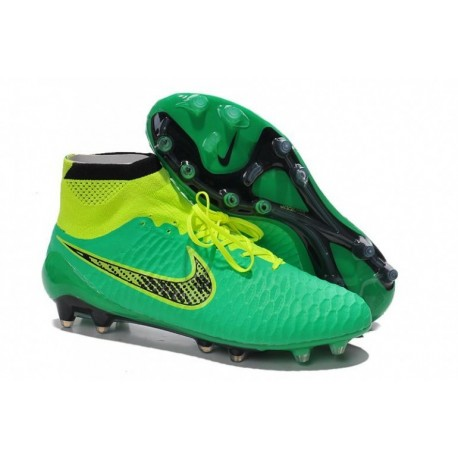 Bottes de football Nike Magista Obra FG Vert Total Orange Noir