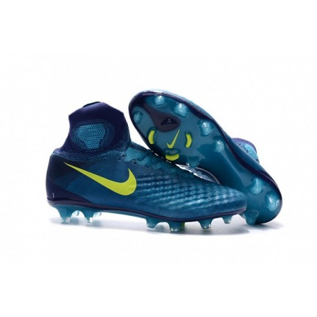 Nouveau 2017 Nike Magista Obra II FG Soccer Cleats Pearlecent Aqua / Obsidian