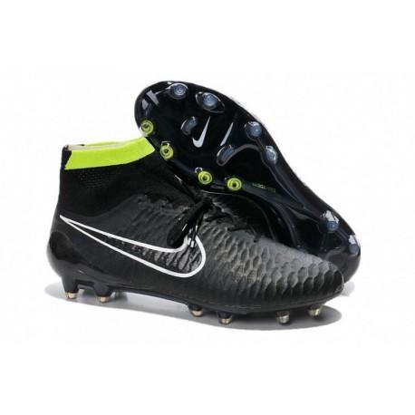 Bottes de football Nike Magista Obra FG Noir Blanc Volt