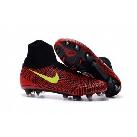 Nouveau 2017 Nike Magista Obra II FG Soccer Cleats Bright Crimson / Noir / Obsidian