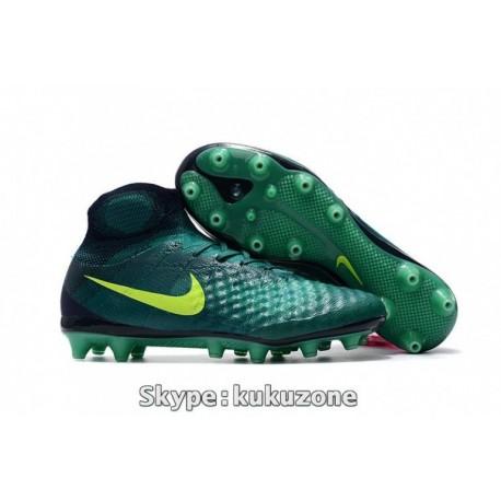 2017 Nike Magista Obra II AG-Pro Soccer Cleats Rio Teal / Volt / Obsidian / Clear Jade
