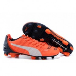 Bottes de football PUMA Evopower 1.2 FG Orange Blanc
