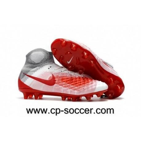 Nike Magista Obra II FG Soccer Cleats Blanc / Rouge