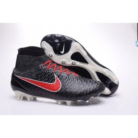 Nike Magista Obra FG Bottes de football Noir Total Cramoisi Blanc